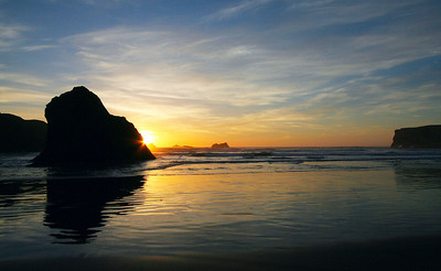Sunset at Bandon, OR