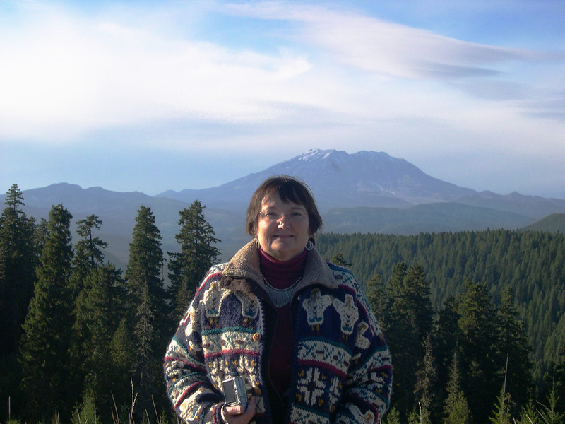 Mount St. Helens with Carol