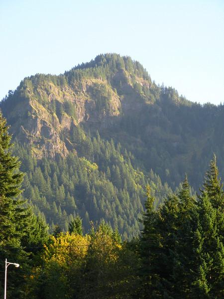 Typical craggy peak - at Bridge of the Gods