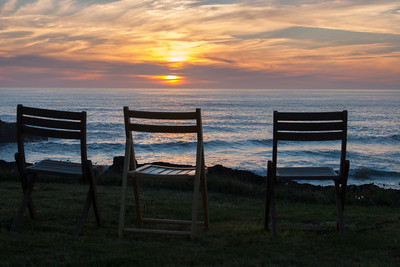 We spent a lot of time in these chairs, watching the wave action, whales, birds, sunsets...