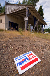 Service Station For Sale  Abandoned service station. Fort Klamath, OR.