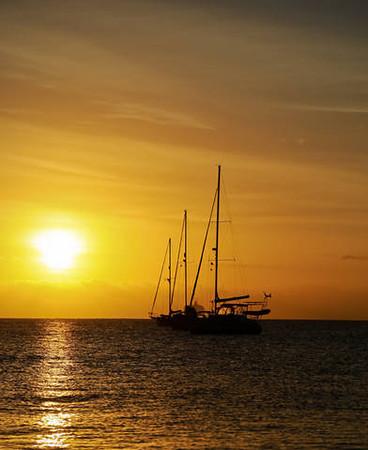Cabo sailing sunset.