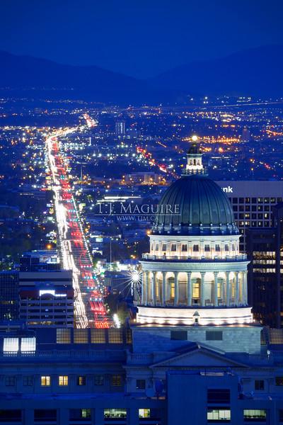 Traffic on State Street, Salt Lake City, Utah