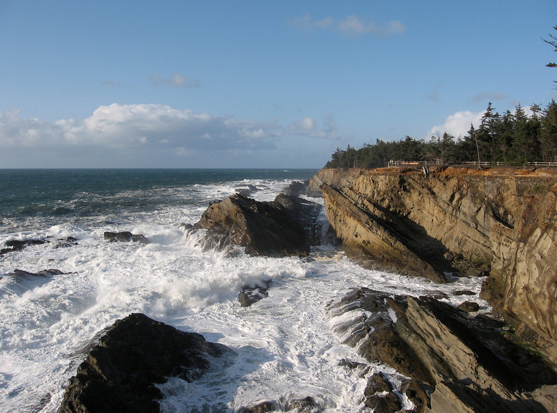 Looking north from Shore Acres State Park. This area is the only part of the Oregon coast that I'd never visited before.