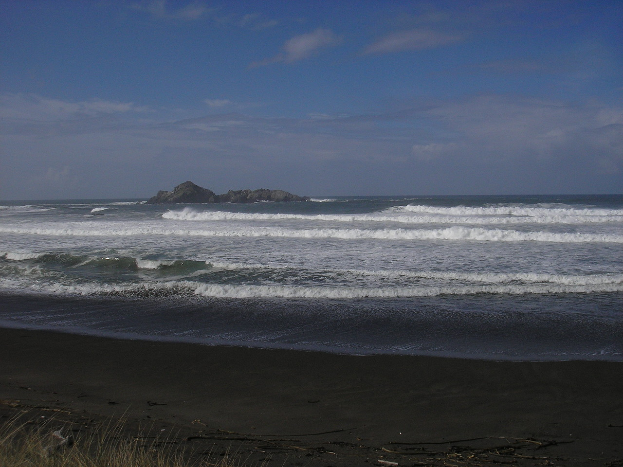 The Pacific Ocean near Cape Blanco Oregon.  We left here on October 29th in the morning headed for our winter position at Prineville Reservoir State Park in Central Oregon.
