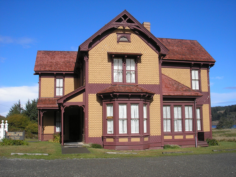 This is what the Hughes House looks like.  It is Victorian architecture and was built in 1898 by J.P. Lindburg, a Sweedish born gentelman.  The house was entered onto the National Historic Registry in 1980.