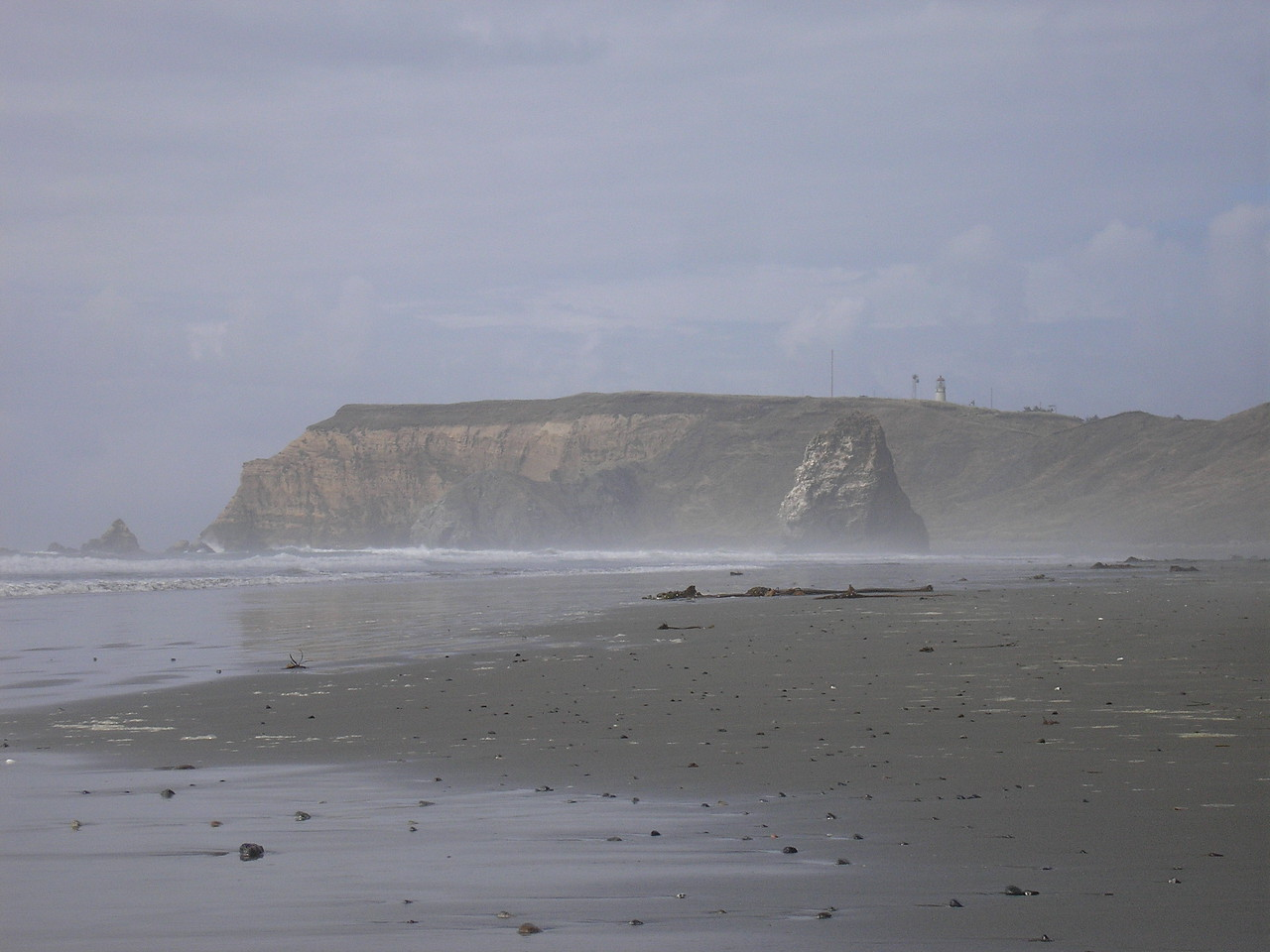 This is the Pacific Ocean Beach below Cape Blanco Lighthouse.