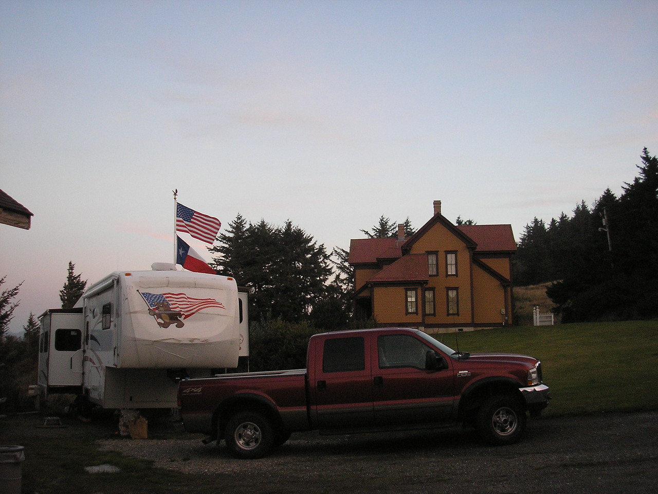 We enjoyed the site provided by Cape Blanco State Park, our view of the Hughes House.