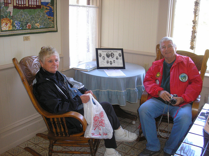 Don and Susan Burford from Las Cruces NM came to visit us at Hughes House.