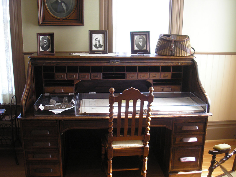 This desk is in the men's parlor this is where the business would have been conducted.  Three sons lived in the house, Edward, Thomas and Francis who married Annie Doyle.  Annie mooved into the house and their son was raised in the house.