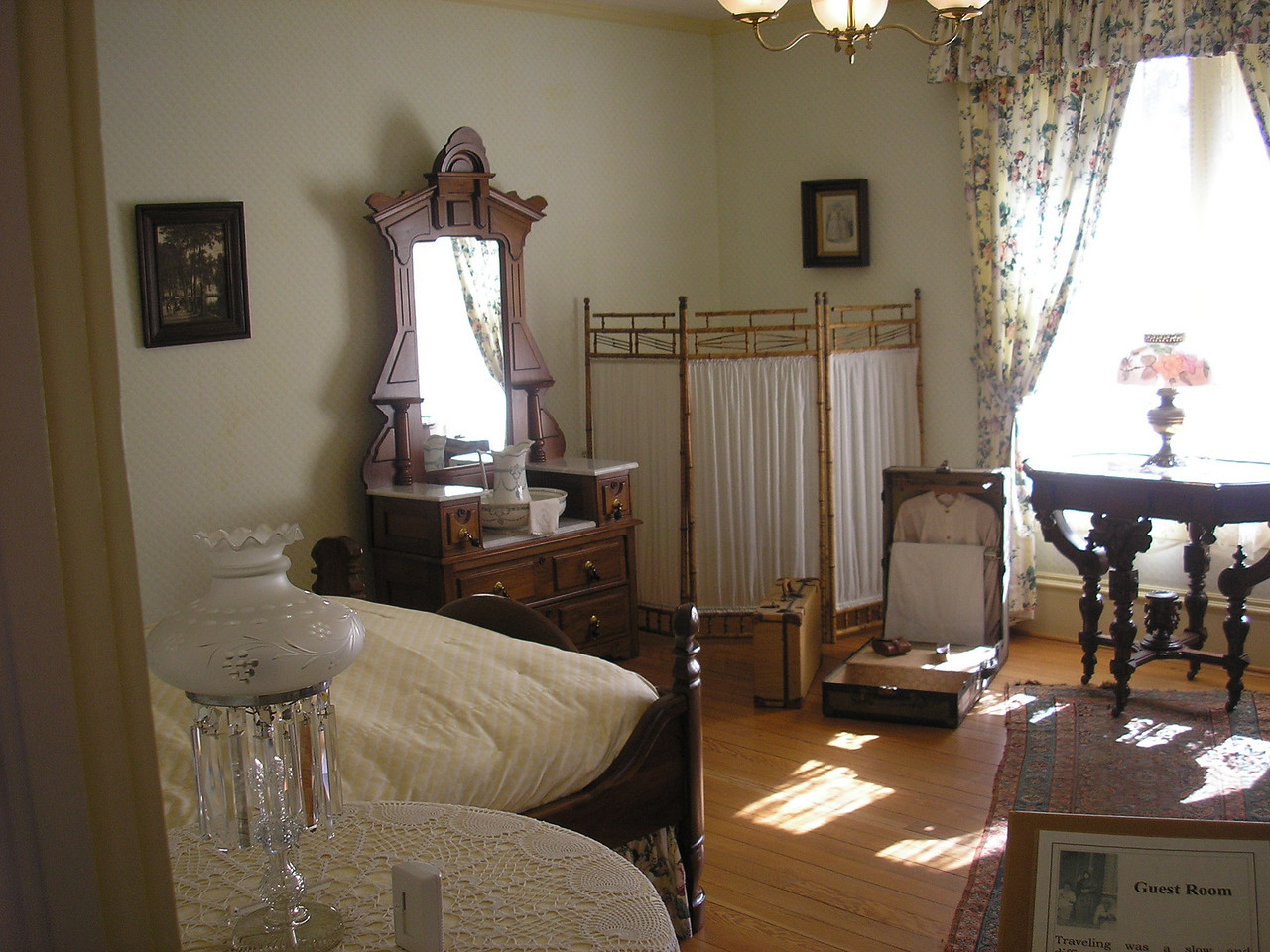 Upstairs bedroom in the Hughes House.