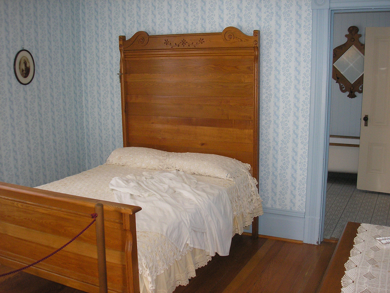 This is the first floor Master bedroom of the Hughes House.