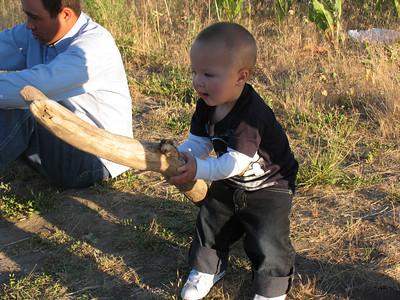 Seth found his OWN fishing pole!