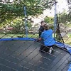 "Nana and Aiden getting ready to ""Jump"" on the Trampoline on our first day."