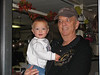 Papa Gary with Seth at the bowling alley in Heppner