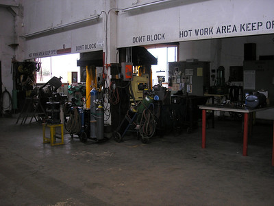 Here is the welding area.