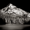 The Lucid Union of light. Mt. Hood, Lost Lake, B+W infrared<br /> © Douglas Remington - Ethereal Light Photography, LLC.  All Rights Reserved. Do not copy or download.