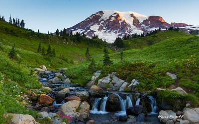 early morning Mt Rainier