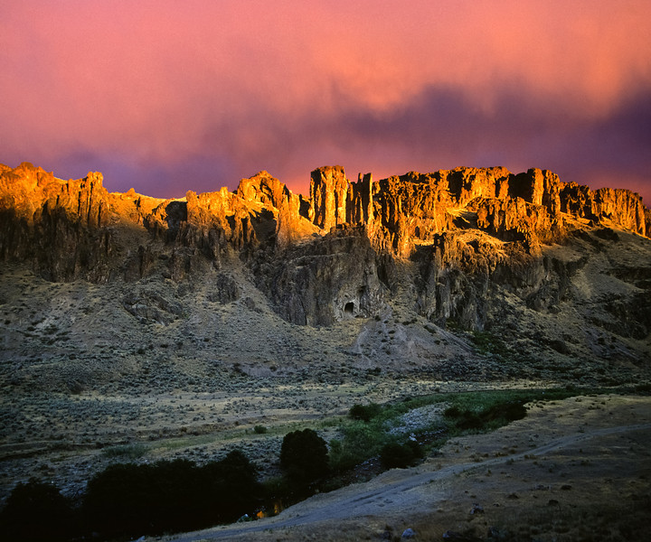 Sunrise and storm,  Eastern Oregon