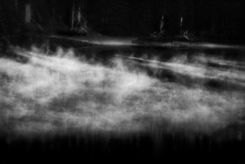 Erie Mist in the Moonlight