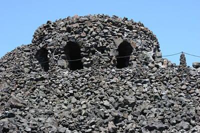 Observatory made from lava rock on the McKenzie Trail Road
