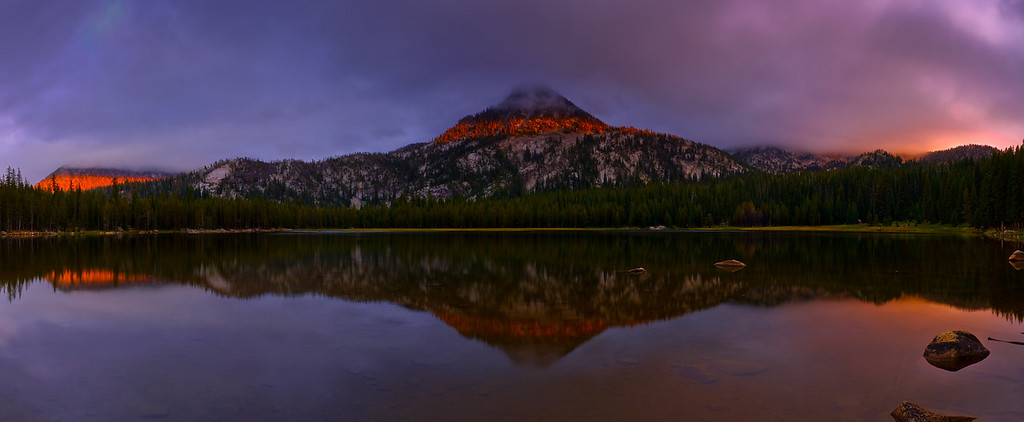 Sunset and Storm, Gunsite Peak, Anthony Lake, Oregon.