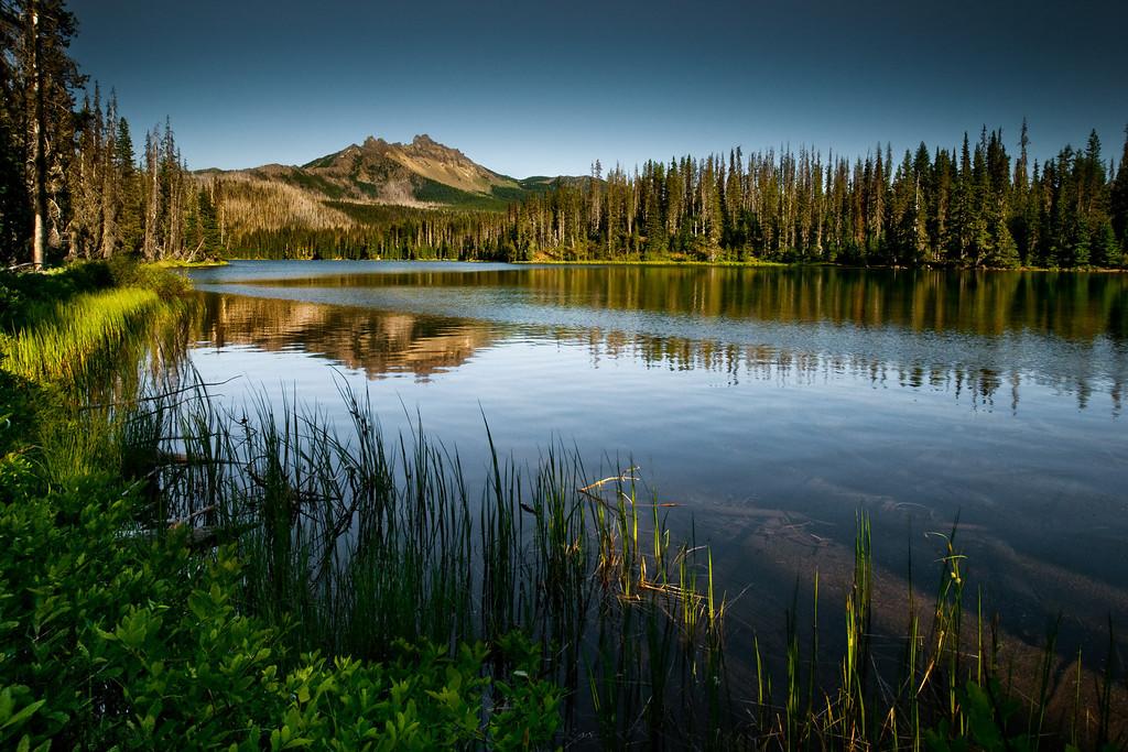 Three finger Jack and alpine lake, Oregon
