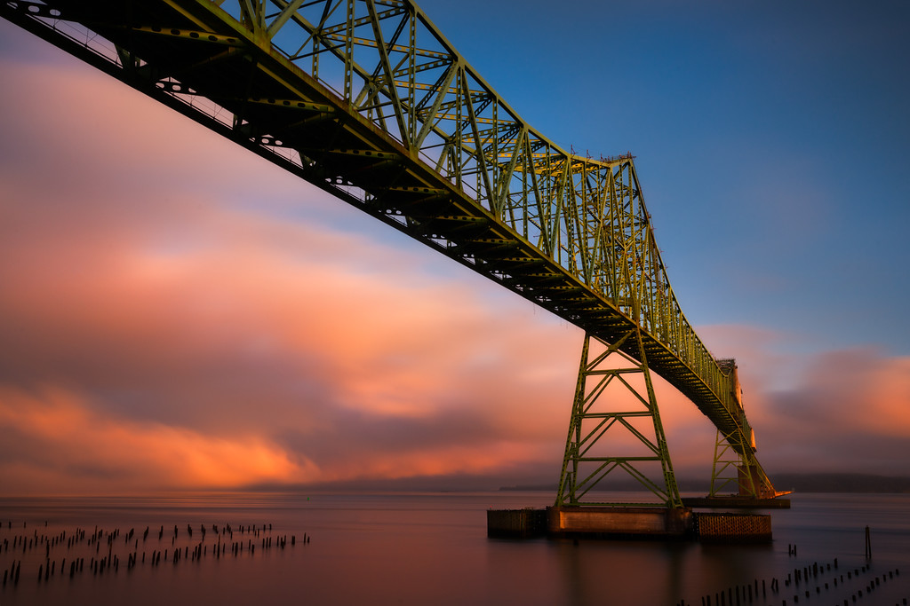 Astoria bridge sunrise