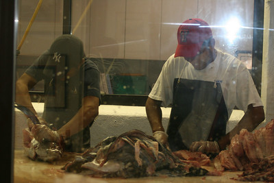Tillimonk cafe on the shore - watched these guys cleaning albacore tuna