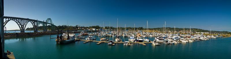 Newport bay marina, Oregon