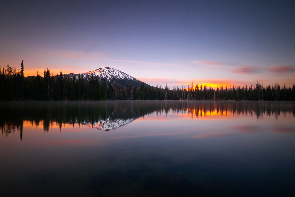 Serenity and Mt.Bachelor at Sparks Lake, Oregon<br /> <br /> 253 second exposure.