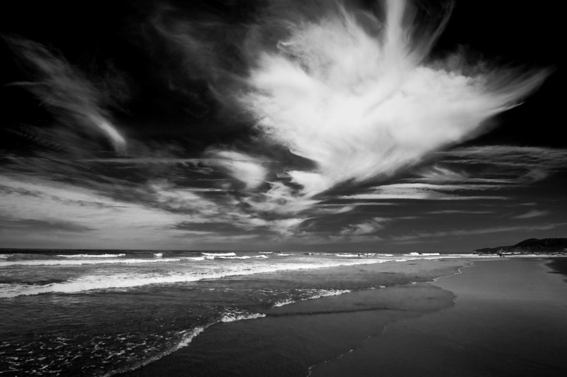 Clouds upon the beach, Oregon