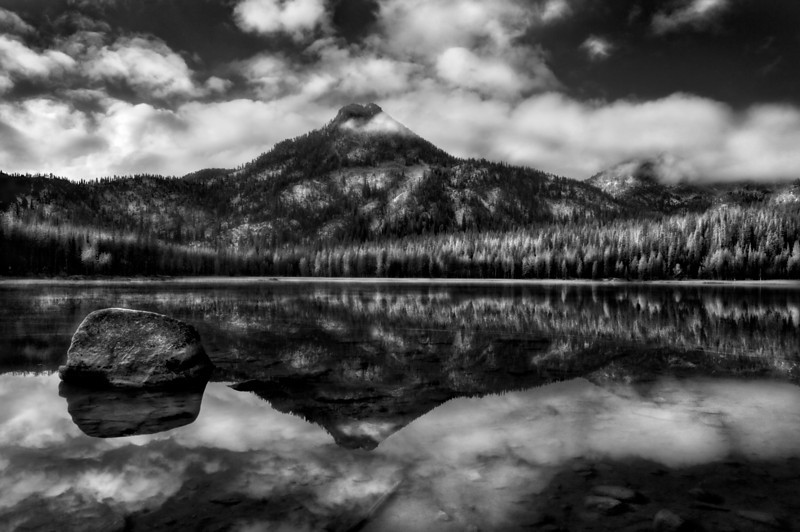 A stormy morning in the Elkhorns, Anthony lake and Gun-site peak.<br /> <br /> © Douglas Remington - Ethereal Light® Photography, LLC. All Rights Reserved. Do not copy or download