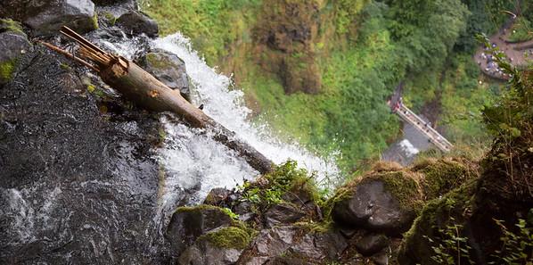 the top of Multnomah Falls