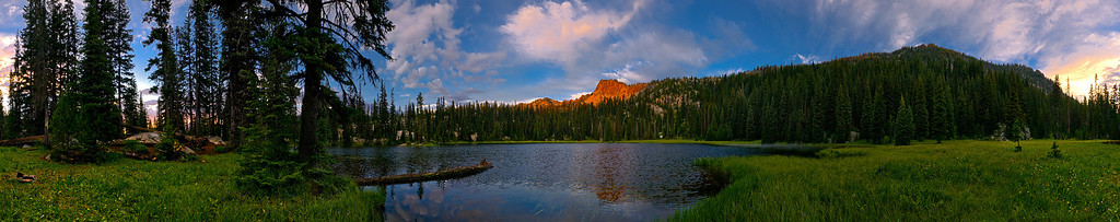Sunrise, Elhorn Mountains, Oregon. 360 panorama.