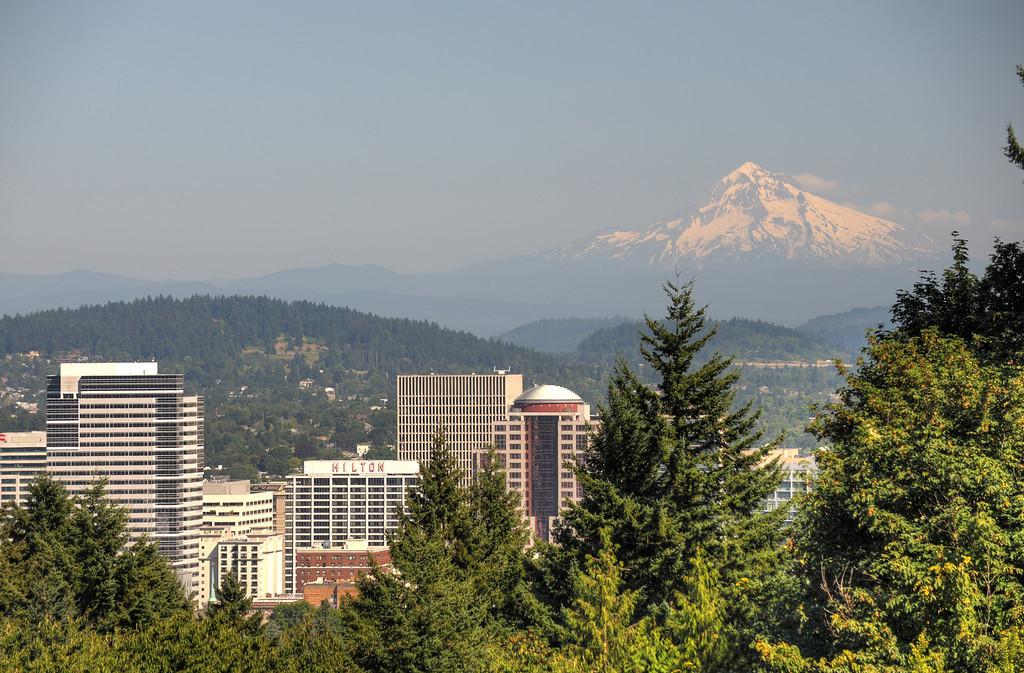 Mount Hood over Portland