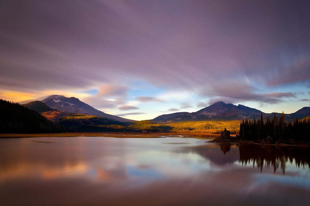 A ray of light, Sparks Lake, Oregon.