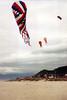 Rockaway Beach, OR kites in flight, a scanned photo