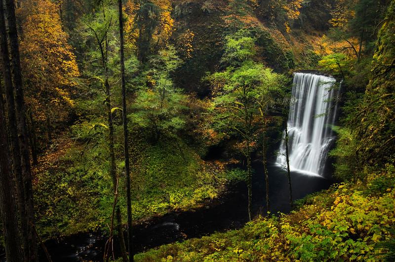 Autumn at silver creek falls, Oregon.