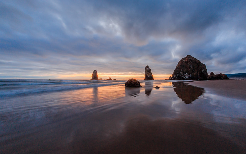 Canon Beach at Sunset