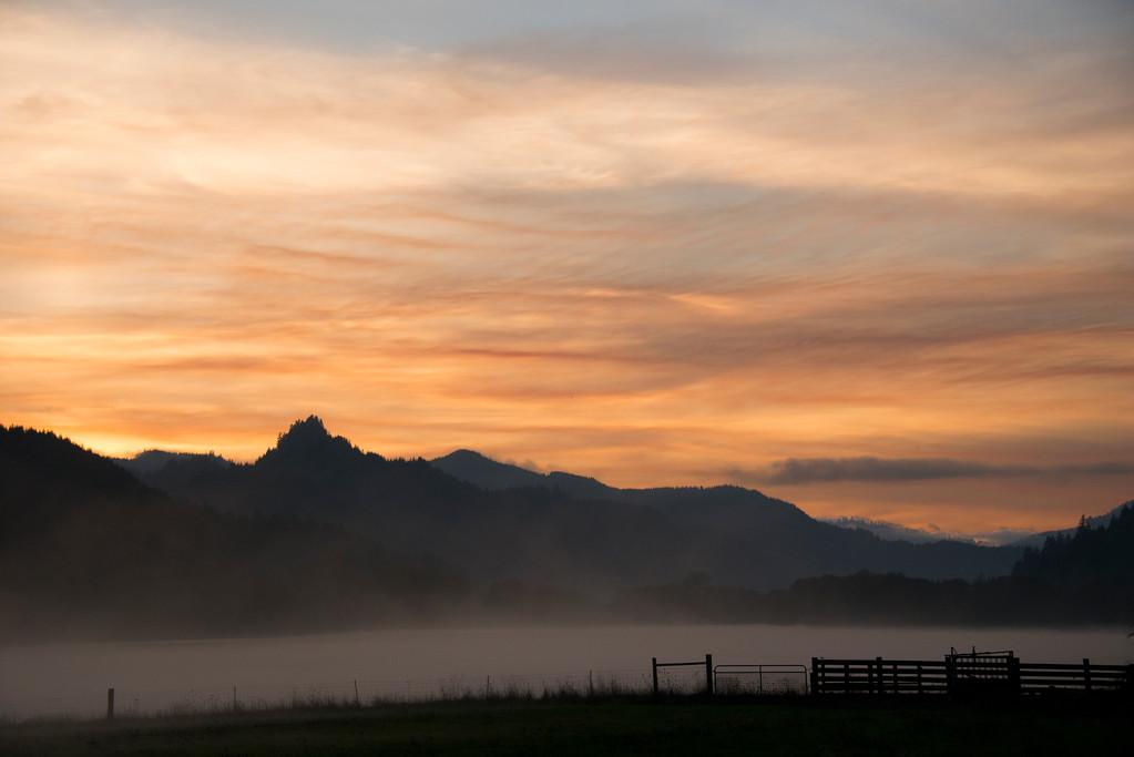Sunset - Near Winchester Bay - Oregon Travel Photography - USA