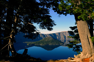 Wizard Island - Crater Lake - Oregon Travel Photography - USA