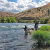 Jim fishing in Deschutes River near Maupin, OR<br /> picture taken September 7, 2009