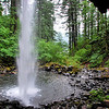 Ponytail Falls from underneath.<br /> September 6, 2009