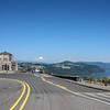 Vista House at Crown Point overlooking the Columbia River and gorge.<br /> September 2, 2009