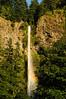 Multnomah Falls, Rainbow<br /> Afternoon Sun<br /> Columbia River Gorge