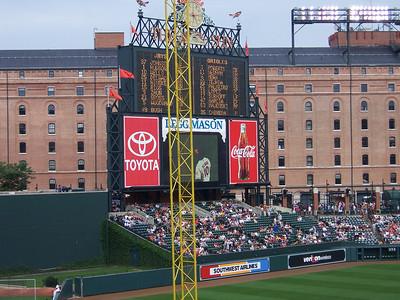 The scoreboard.