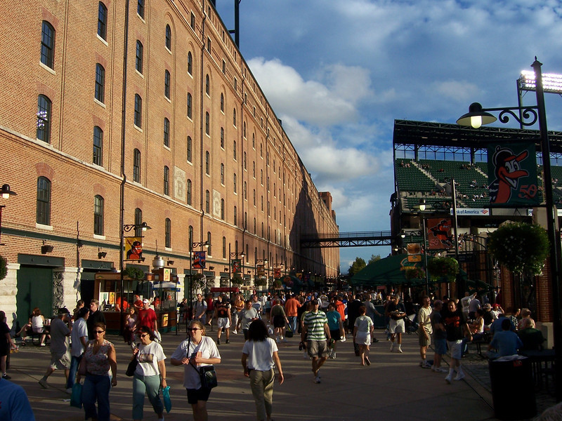 The alloey behind Camden Yards, cool place to hang out.