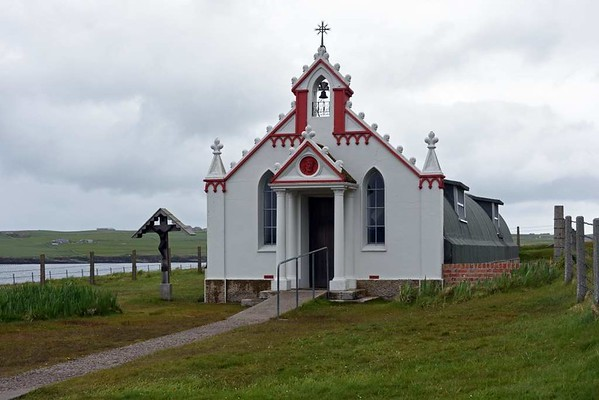 Italian chapel, Lamb Holm, Orkney, 26 May 2015 2.  The chapel is the only Camp 60 building to survive.