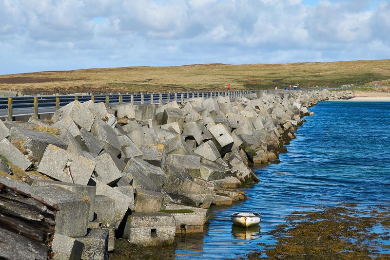 Concrete blocks of the Churchill Barrier